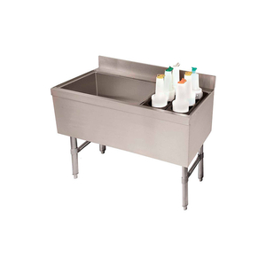 COMBO ICE CHEST, COLDPLATE, 21X47, BOTTLE STORAGE RACK RIGHT, 119/35 LBS ICE CAP by Advance Tabco