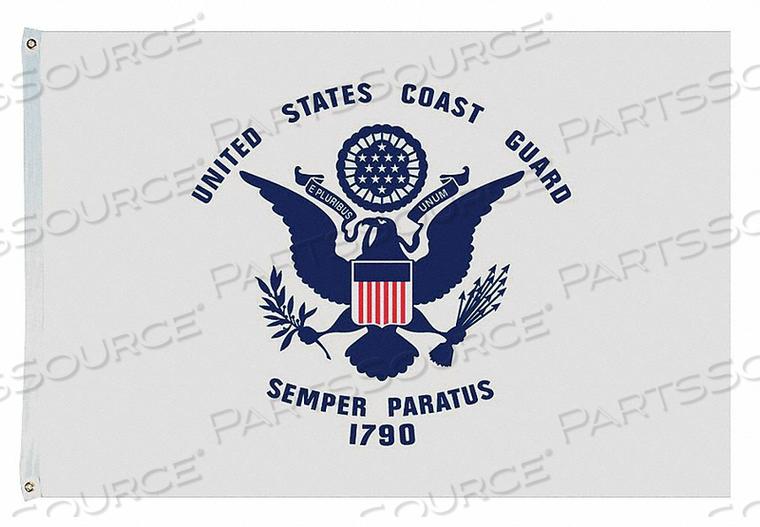 D4227 US COAST GUARD FLAG 4X6 FT NYLON by Annin Flagmakers
