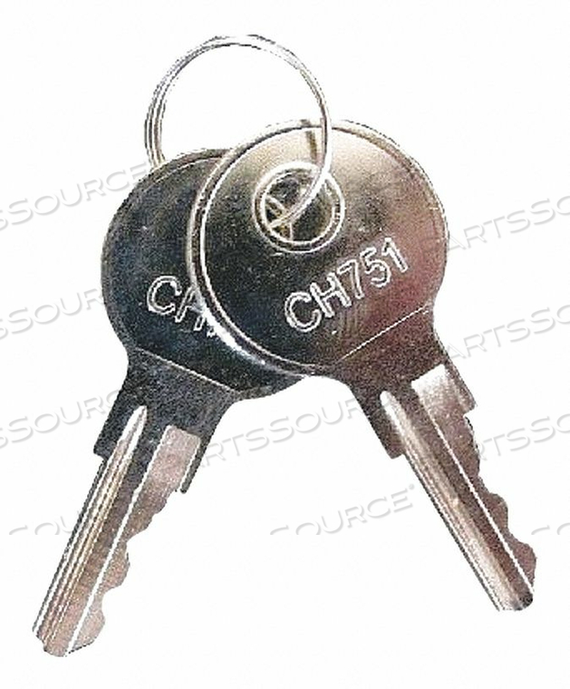 TIME CLOCK SPARE KEYS 2 W 13/64 D 2 H by Pyramid
