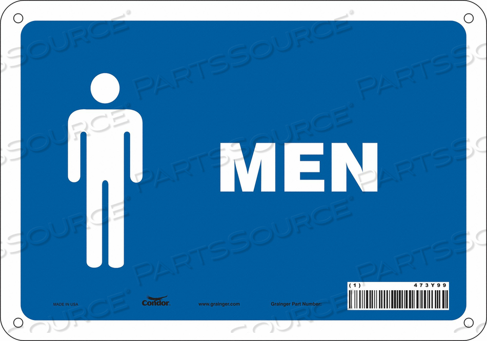RESTROOM SIGN 10 W 7 H 0.060 THICK by Condor