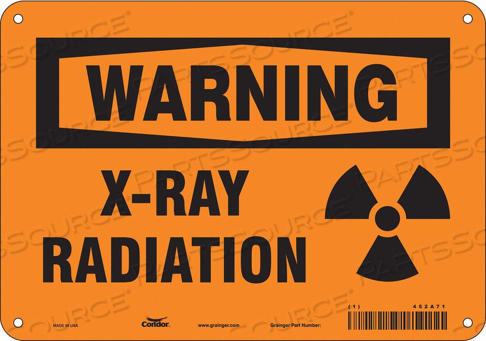 RADIATION SIGN WARNING HEADER 7 H by Condor