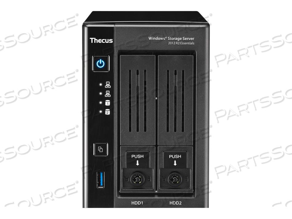 THECUS TECHNOLOGY W2810PRO - NAS SERVER - 2 BAYS - RAM 4 GB - GIGABIT ETHERNET - ISCSI