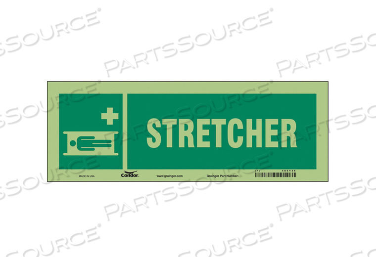 FIRST AID SIGN 14 W 5 H 0.010 THICKNESS by Condor
