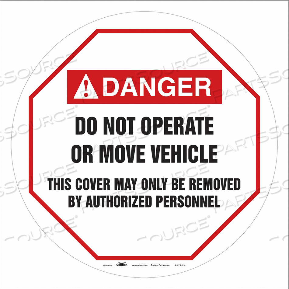 TRAFFIC SIGN 24 W 24 H 0.026 THICKNESS by Condor