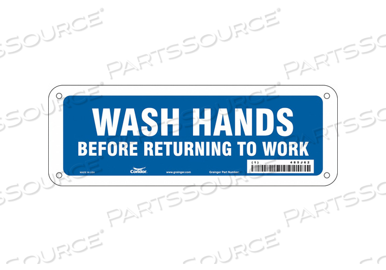 SAFETY SIGN 10 WX3-1/2 H 0.032 THICK by Condor