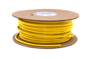 CONDUCTIVE HOSE, 1/4 IN ID, 0.46 IN OD, PVC, AIR, YELLOW, 14 TO 150 DEG F, 200 PSI, MEETS ISO, 250 FT by Bay Corporation