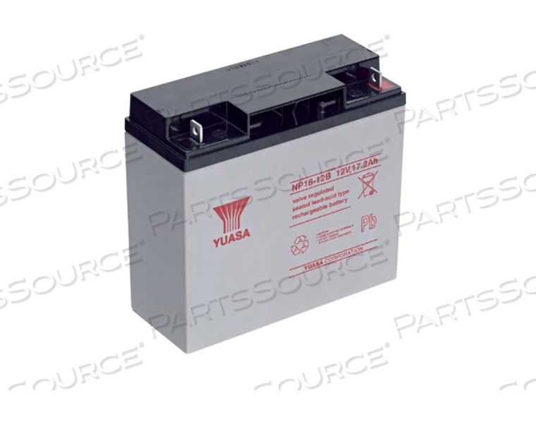 BATTERY, SEALED LEAD ACID, 12 V, 18 AH, FASTON (F2) by R&D Batteries, Inc.