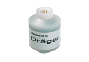 SENSOR, 1.26 IN DIA, 3 PIN MALE MOLEX MATING, 0 TO 100%, WHITE, 10 TO 13 MV SIGNAL OUTPUT, 3 PINS, 4 SEC RESPONSE, 0 TO 45 DEG C, MEETS FDA, ISO  by Draeger Inc.