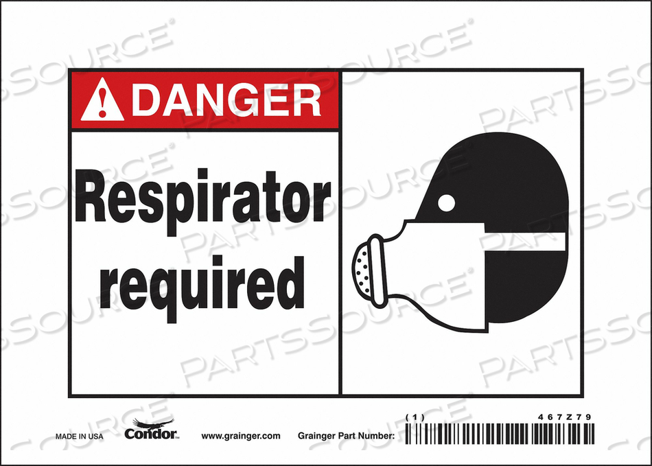 SAFETY SIGN 7 W 5 H 0.070 THICKNESS by Condor