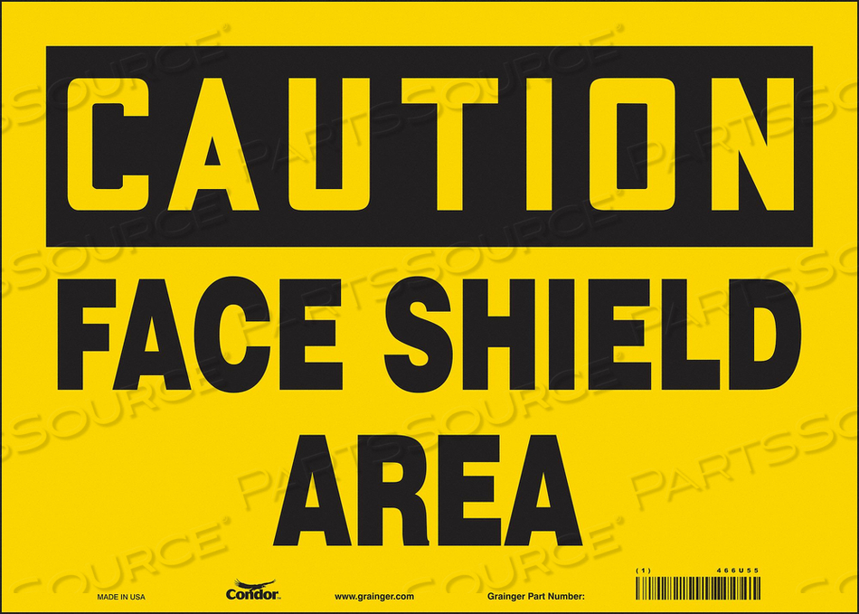 K2002 SAFETY SIGN 14 W 10 H 0.004 THICKNESS by Condor