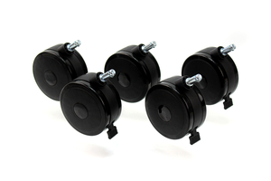 LOCKING TWIN WHEEL CASTER REPLACEMENT SET, 4 IN DIA by GCX Corporation