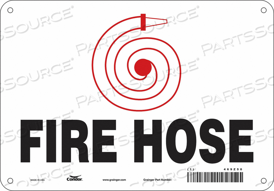 SAFETY SIGN 10 W 7 H 0.070 THICKNESS by Condor