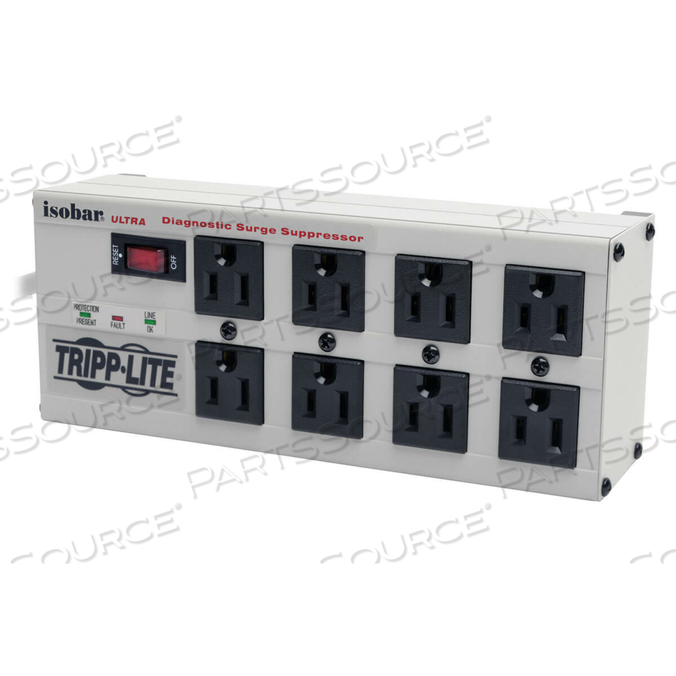 TRIPP LITE ISOBAR SURGE PROTECTOR METAL 8 OUTLET 12FT CORD 3840 JOULE by Tripp Lite