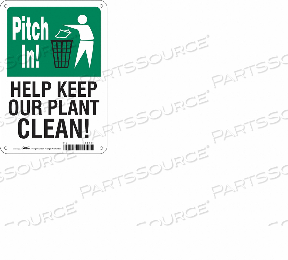 SAFETY SIGN 7 10 0.055 THICKNESS by Condor