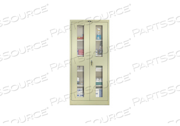 H2203 SHELVING CABINET 72 H 48 W TAN by Hallowell