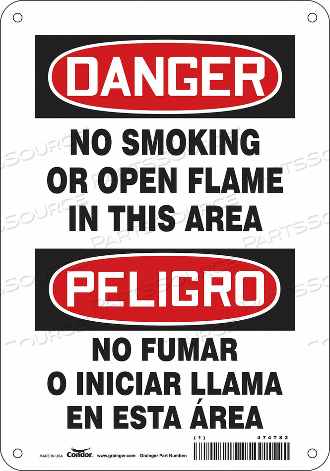 SAFETY SIGN 7 W 10 H 0.032 THICKNESS by Condor