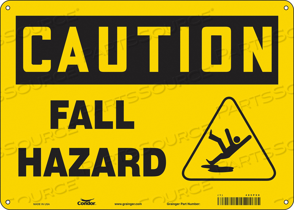 SAFETY SIGN 14 WX10 H 0.055 THICK by Condor