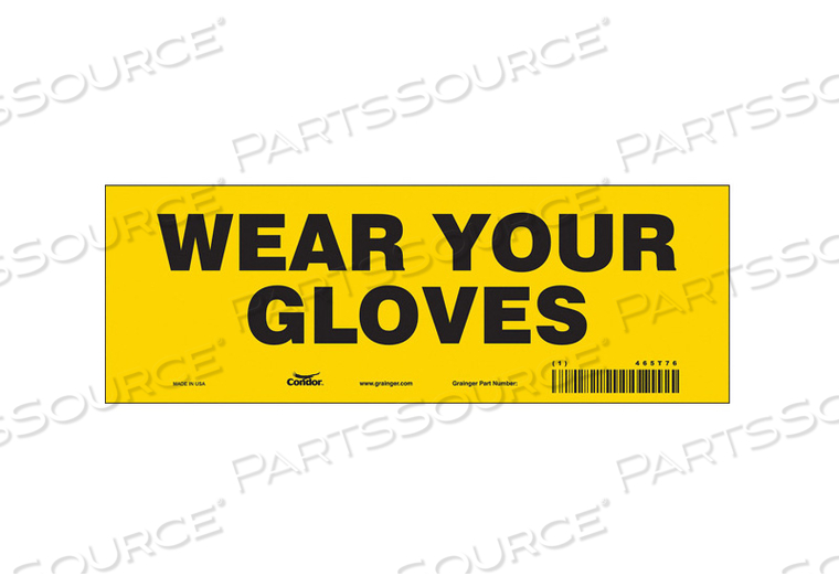SAFETY SIGN PERSONAL PROTECTION 3-1/2 H by Condor
