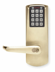 ELECTRONIC LOCK SATIN BRASS 12 BUTTON by Kaba