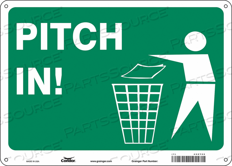 SAFETY SIGN 14 10 0.032 THICKNESS by Condor