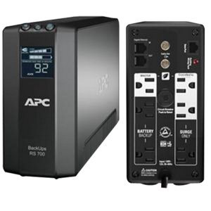 BACK-UPS RS LCD 700 MASTER CONTROL - UPS - AC 120 V - 450 WATT - 700 VA - USB - OUTPUT CONNECTORS: 6 - BLACK by APC / American Power Conversion
