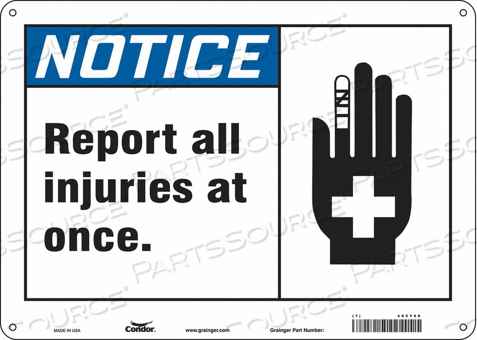 FIRST AID SIGN 14 W 10 H 0.060 THICK by Condor