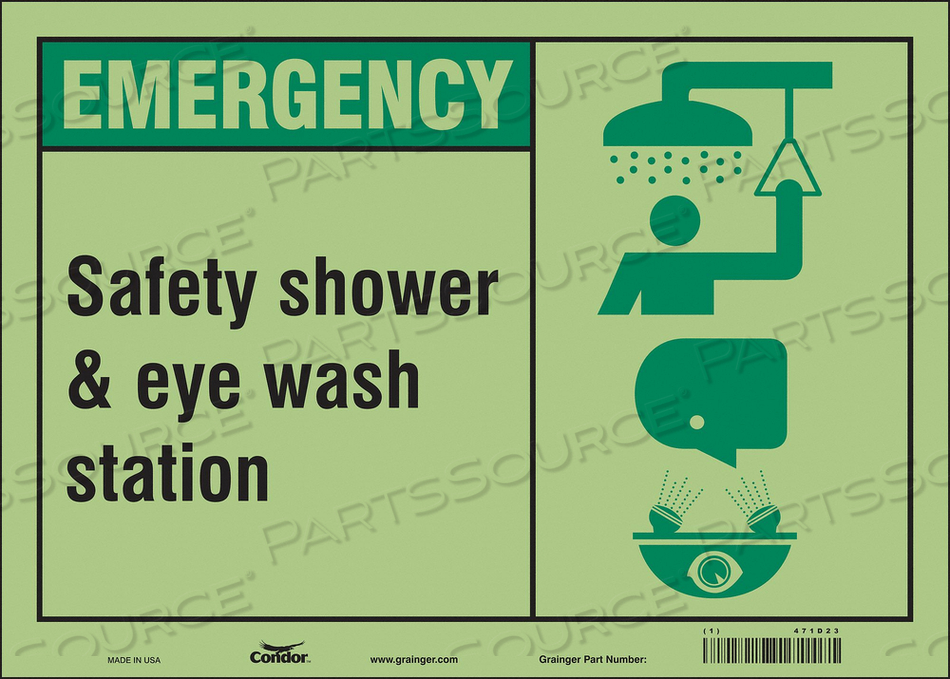 SAFETY SIGN 14 W X 10 H 0.010 THICK by Condor