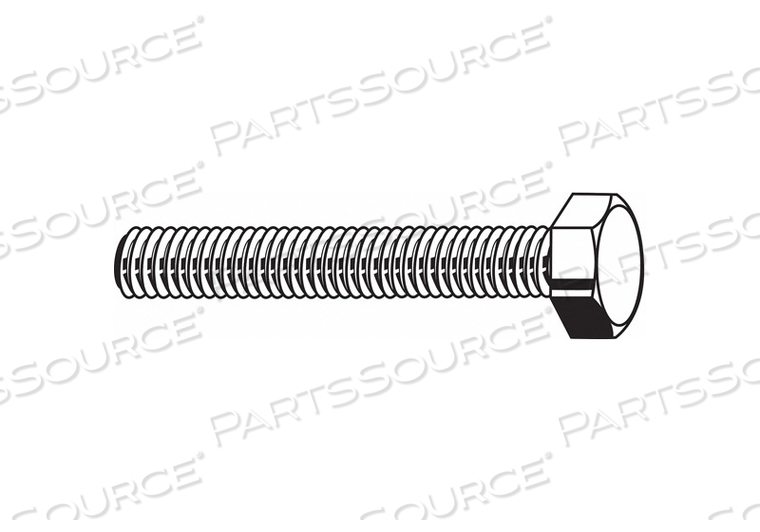 HHCS 1-8X2-1/2 STEEL GR 5 PLAIN PK25 by Fabory