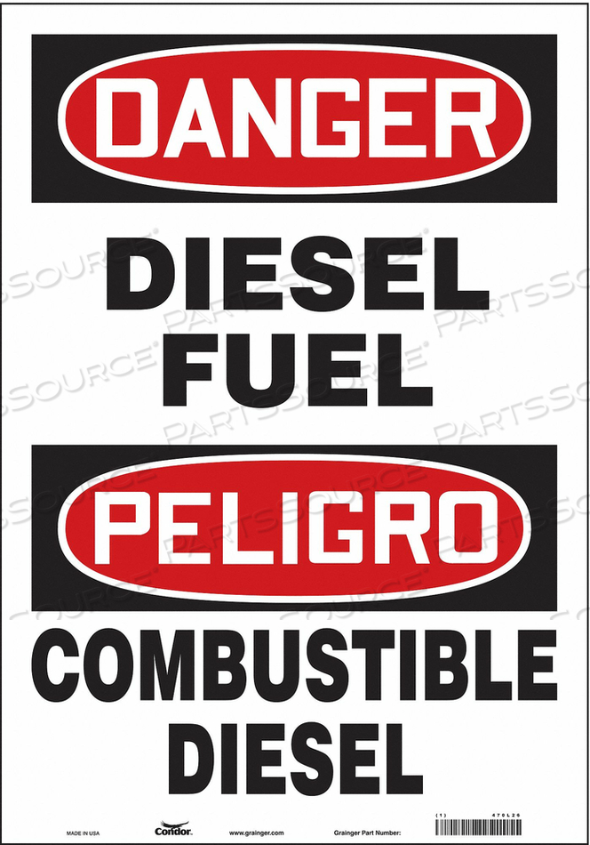 SAFETY SIGN 14 W 20 H 0.004 THICKNESS by Condor