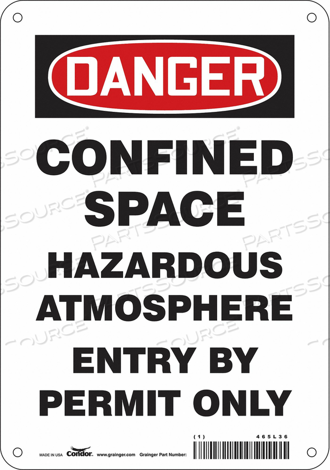 SAFETY SIGN 10 H 7 W PLASTIC by Condor
