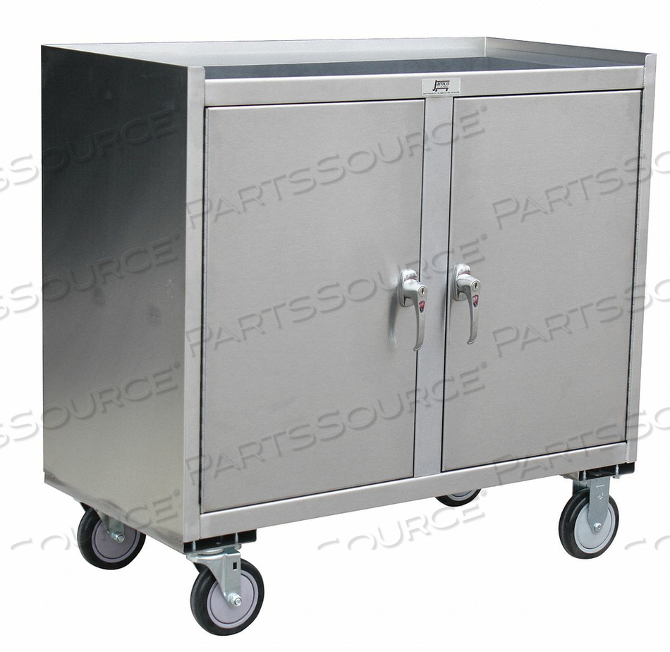 MOBILE CABINET WORKBENCH SS 37 W 21 D by Jamco