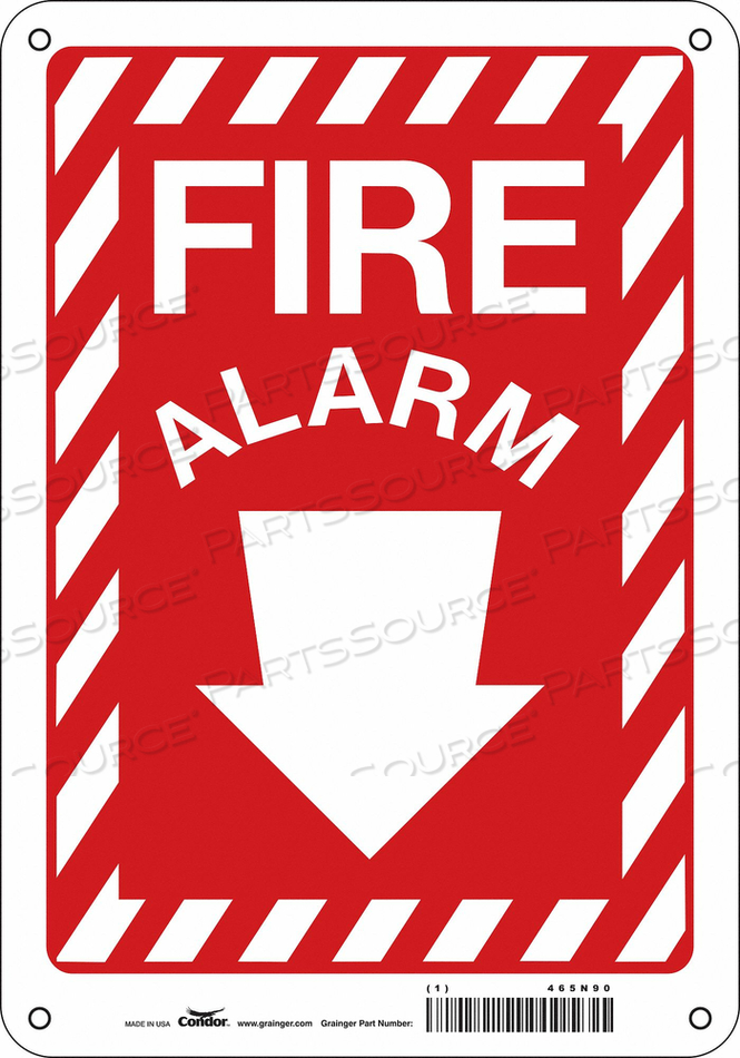 SAFETY SIGN 3-1/2 WX14 H 0.055 THICK by Condor