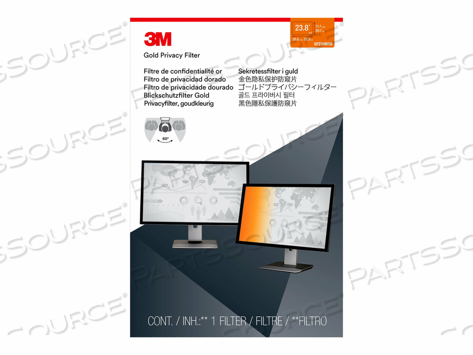 "3M GOLD PRIVACY FILTER FOR 23.8"" WIDESCREEN MONITOR - DISPLAY PRIVACY FILTER - 23.8"" WIDE - GOLD by 3M Consumer"