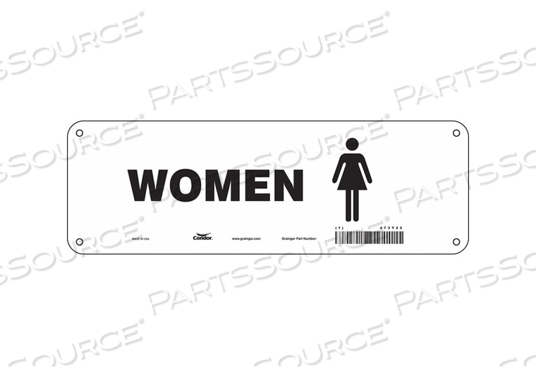 RESTROOM SIGN 12 W 4 H 0.032 THICK by Condor