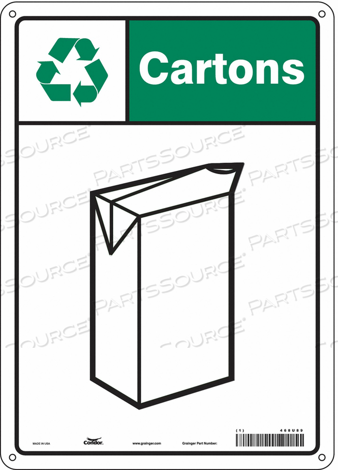 SAFETY SIGN 10 WX14 H 0.055 THICKNESS by Condor