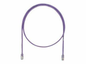 PANDUIT NETKEY - PATCH CABLE - RJ-45 (M) TO RJ-45 (M) - 8 FT - UTP - CAT 5E - IEEE 802.3AF/IEEE 802.3AT/IEEE 802.3BT - SNAGLESS, STRANDED - VIOLET by Panduit