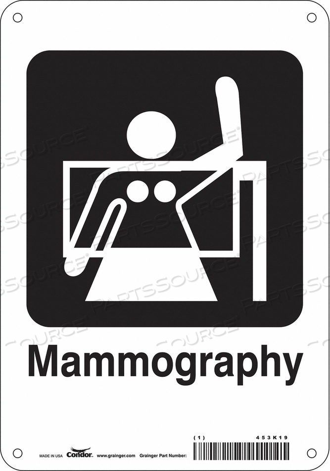 HOSPITAL SIGN 10 H X 7 W 0.055 THICK by Condor