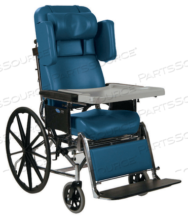 "HTR 5500 CHAIR, 16"" SEAT, BLUEBERRY, 22"" SEAT TO FLOOR, 24"" WHEELS by Invacare Corporation"