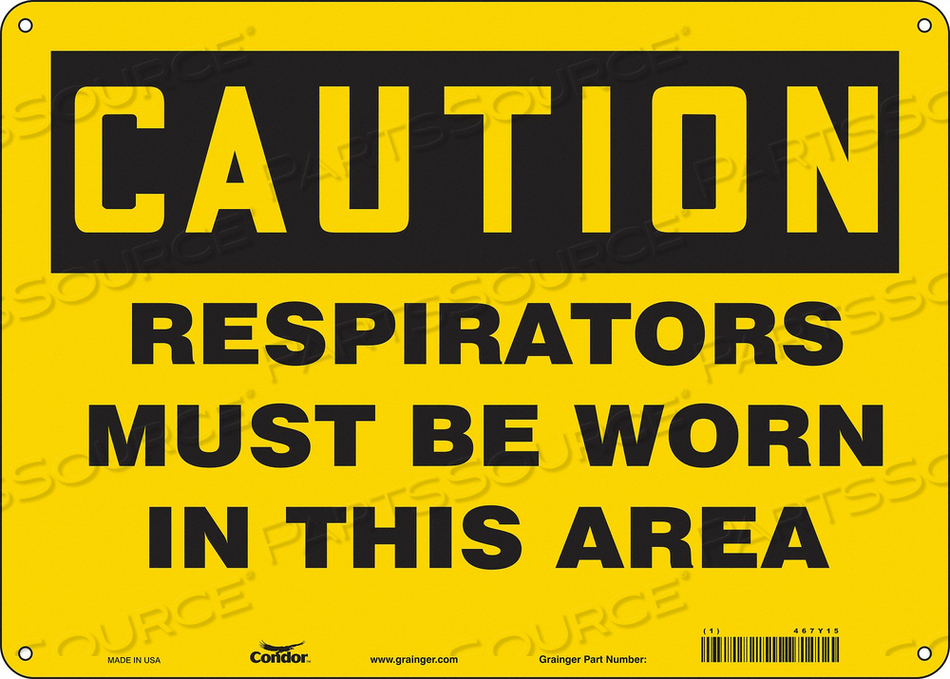 J6968 SAFETY SIGN 14 W 10 H 0.004 THICKNESS by Condor