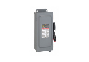 SAFETY SWITCH 600VAC 6PST 60 AMPS AC by Square D