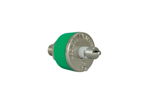 QUICK CONNECT ADAPTOR ELBOW, 1/4 IN CONNECTION, HOSE BARB SWIVEL CONNECTION, GREEN, OXYGEN by Precision Medical, Inc.