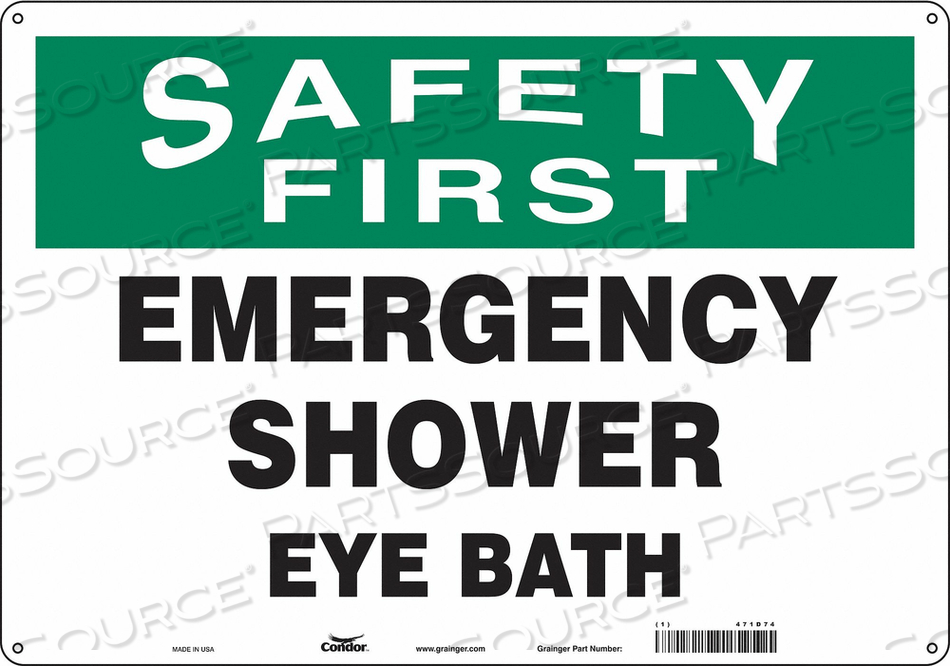 SAFETY SIGN 20 W X 14 H 0.060 THICK by Condor