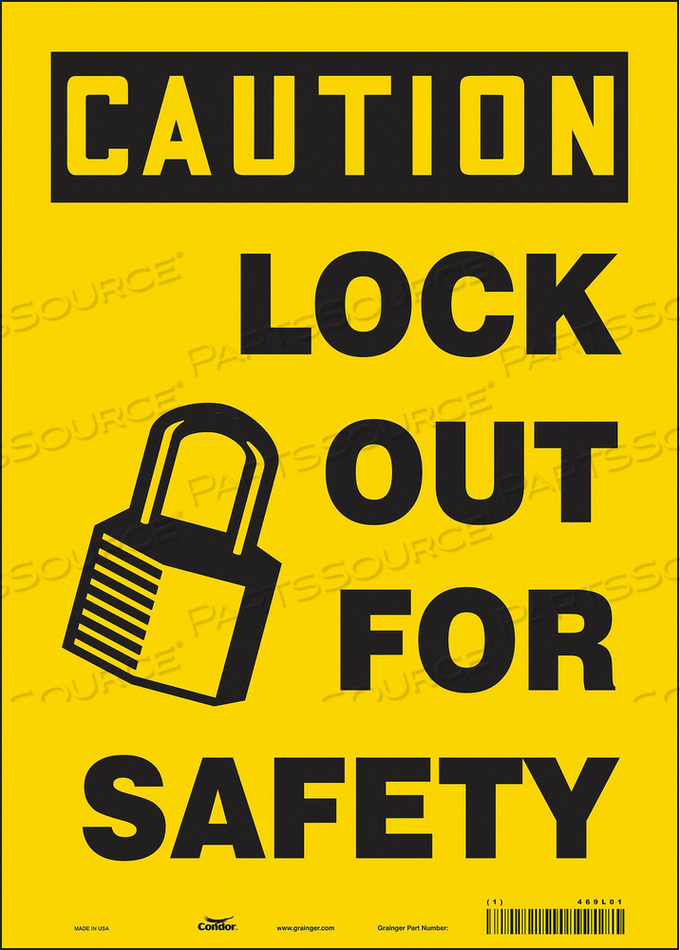 K0106 SAFETY SIGN 10 W 14 H 0.004 THICKNESS by Condor