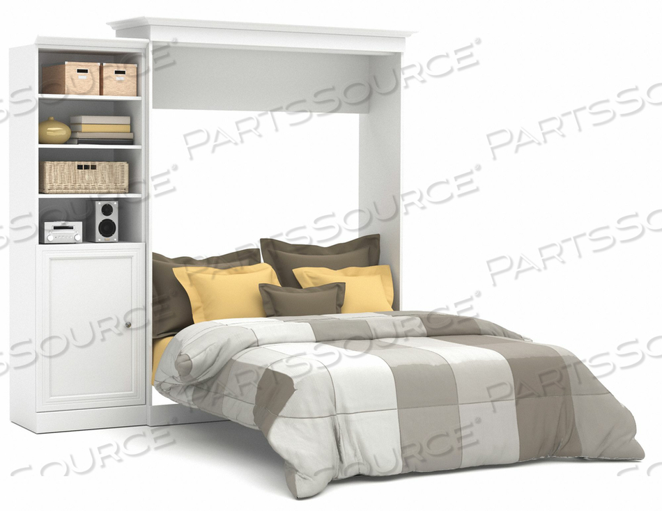 QUEEN WALL BED KIT WHITE 92 by Bestar