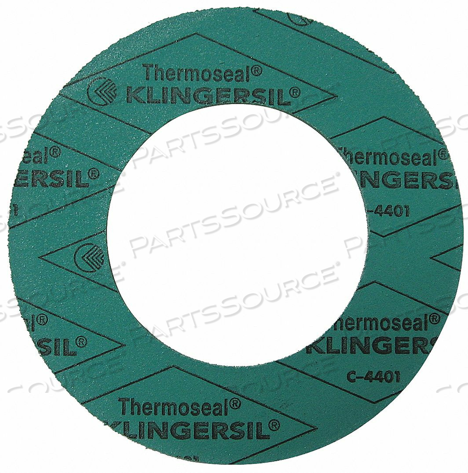FLANGE GASKET 4 IN. 1/8 IN. GREEN by Thermoseal