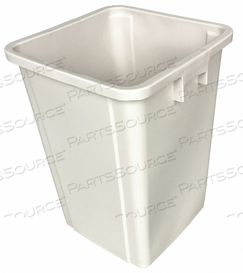 D2629 TRASH CAN SQUARE 19 GAL. BEIGE by Tough Guy