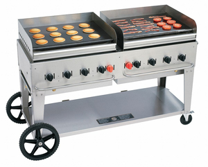 PORTABLE GAS GRIDDLE 8 BURNERS by Crown Verity