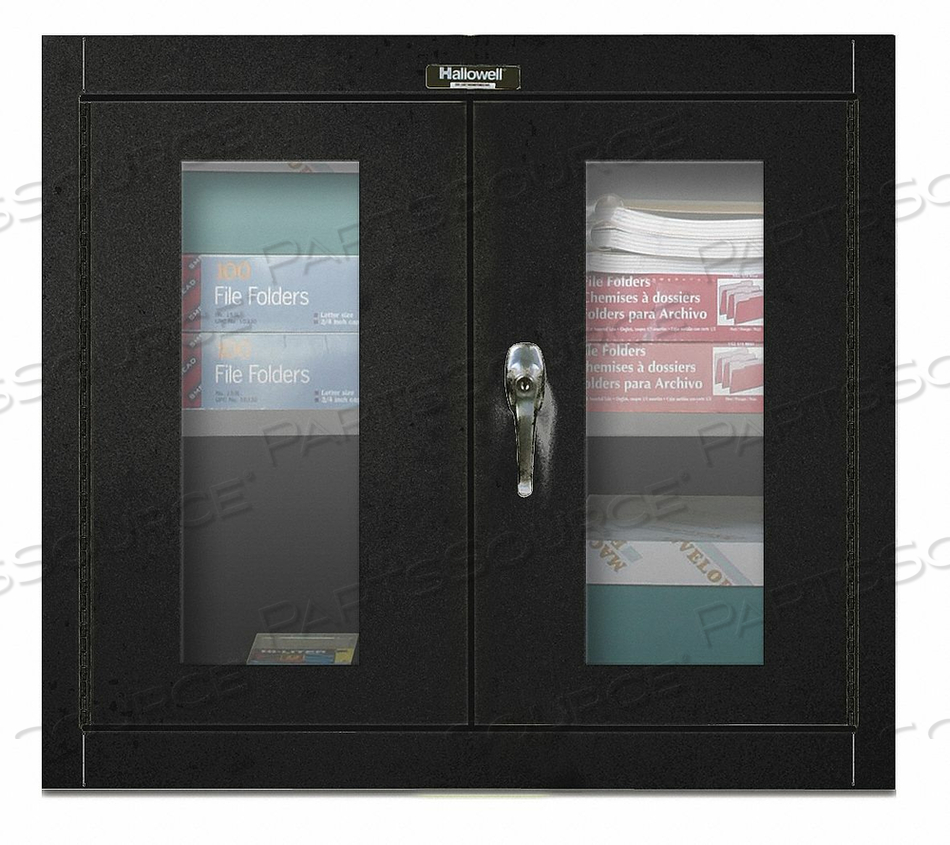 G6781 WALL CABINET 26 H 30 W BLACK by Hallowell