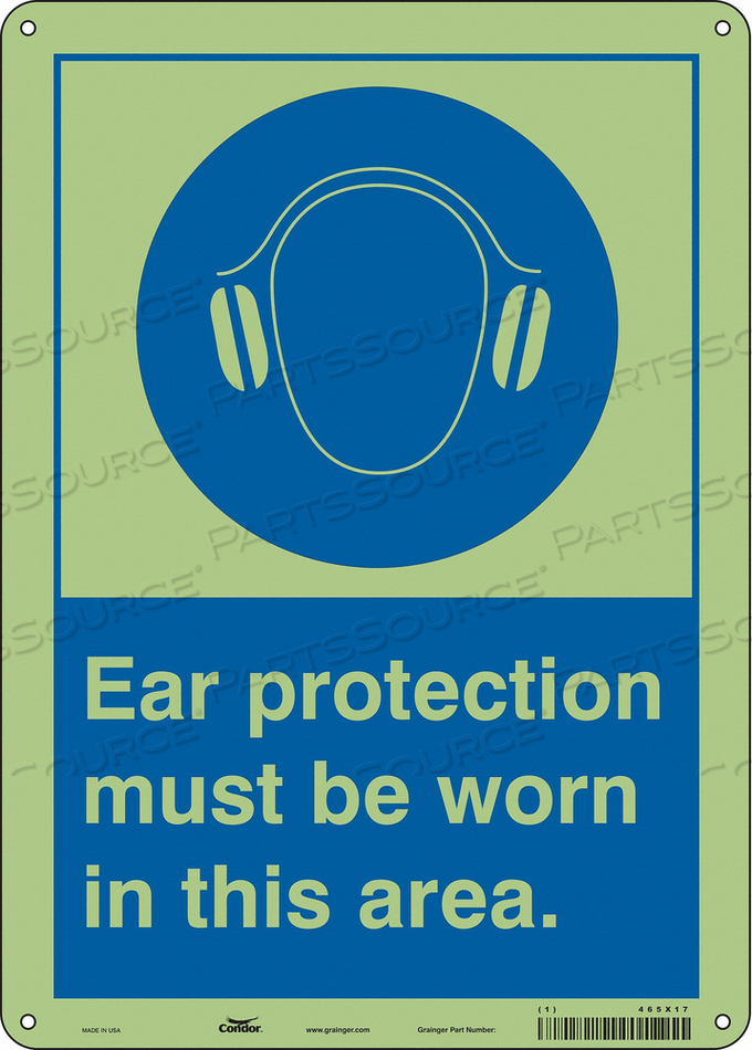SAFETY SIGN 10 W 14 H 0.070 THICKNESS by Condor