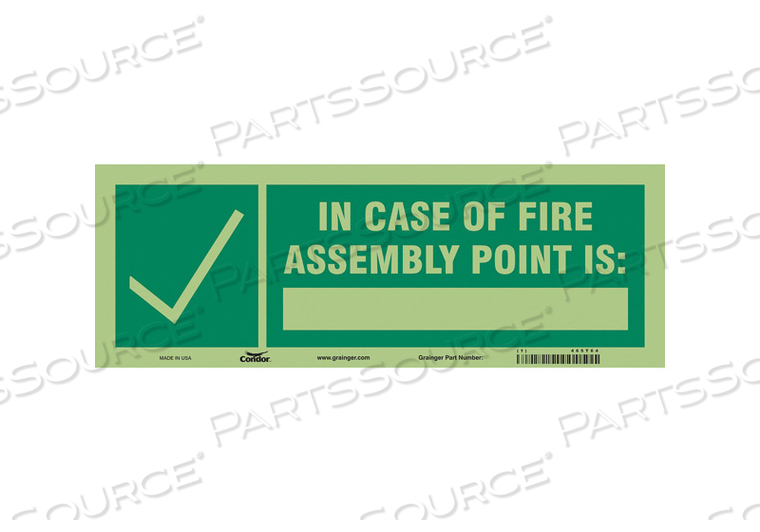 SAFETY SIGN 14 WX5 H 0.010 THICKNESS by Condor